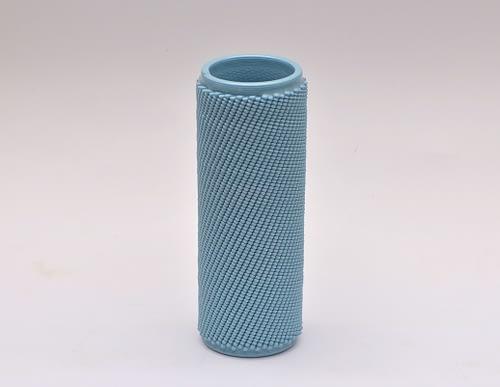 Light Blue Weave L Vase