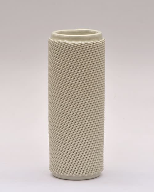 Cream Weave L Vase