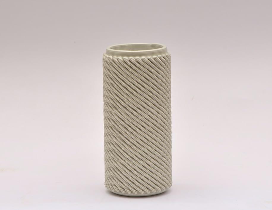 Cream Weave M Vase