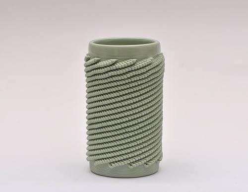 Light Green Weave S Vase