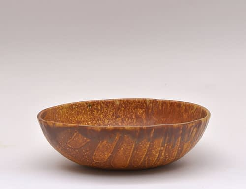 Round Warm Orange Bowl