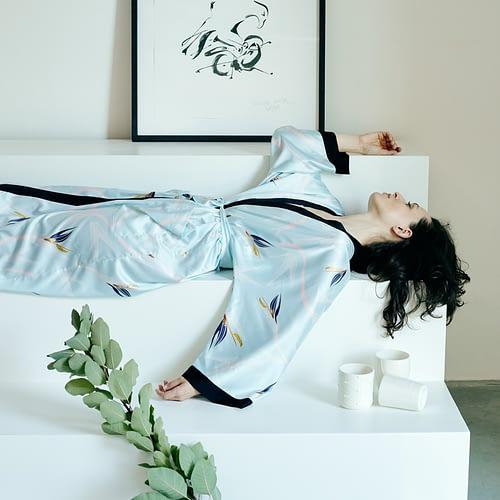 Silk Kimono Blue