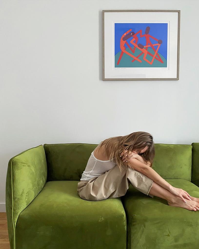 Sandi Lazar's art edition in Oana's home